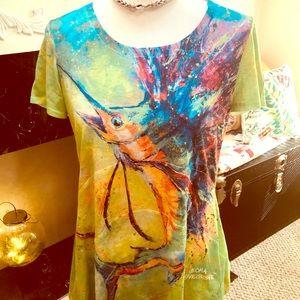Colorful Marlin T 🐬 by Leoma Lovegrove